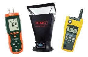 Hood Air Flow Meter & Differential Pressure Manometer